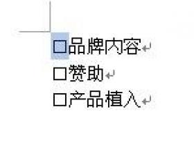 """word2007/2010中如何在""""口""""中打勾(√)"""