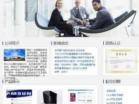 超简洁清新企业站aspcms模板