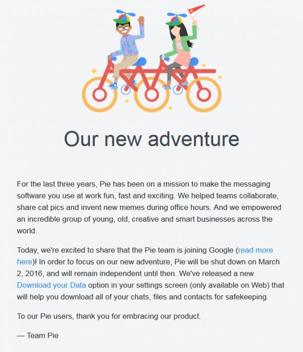 Google宣布收购企业级聊天工具Pie-老D